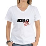 Off Duty Actress Women's V-Neck T-Shirt