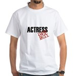 Off Duty Actress White T-Shirt