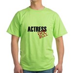 Off Duty Actress Green T-Shirt