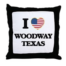 I love Woodway Texas Throw Pillow
