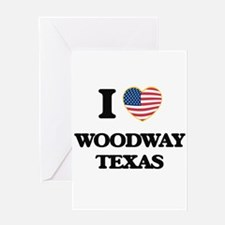 I love Woodway Texas Greeting Cards