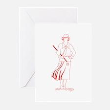 Female Golfer Greeting Cards