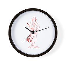 Female Golfer Wall Clock