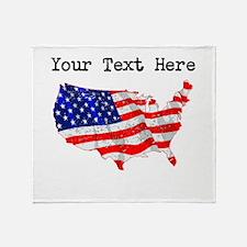 United States Flag (Distressed) Throw Blanket