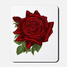 Vintage Red Rose Mousepad