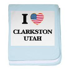 I love Clarkston Utah baby blanket