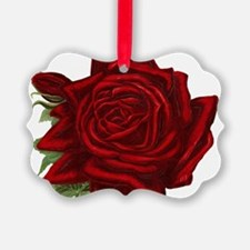 Vintage Red Rose Ornament