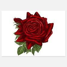 Vintage Red Rose Invitations