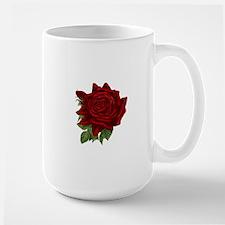 Vintage Red Rose Mugs