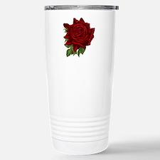 Vintage Red Rose Stainless Steel Travel Mug
