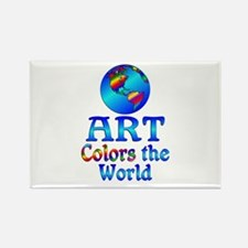 Art Colors the World Rectangle Magnet (10 pack)