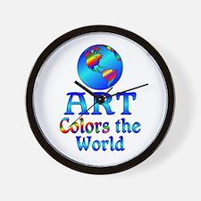 Art Colors the World Wall Clock