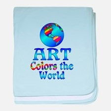 Art Colors the World baby blanket