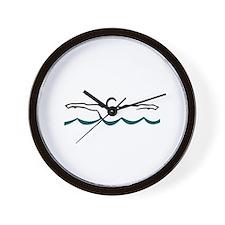 Butterfly Swimmer Wall Clock