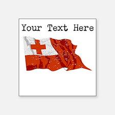 Tonga Flag (Distressed) Sticker