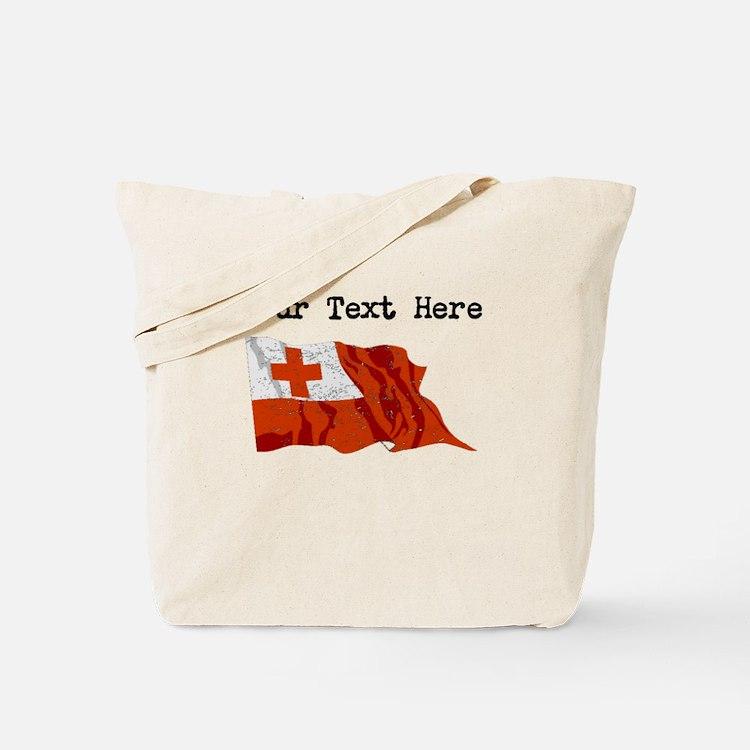 Tonga Flag (Distressed) Tote Bag
