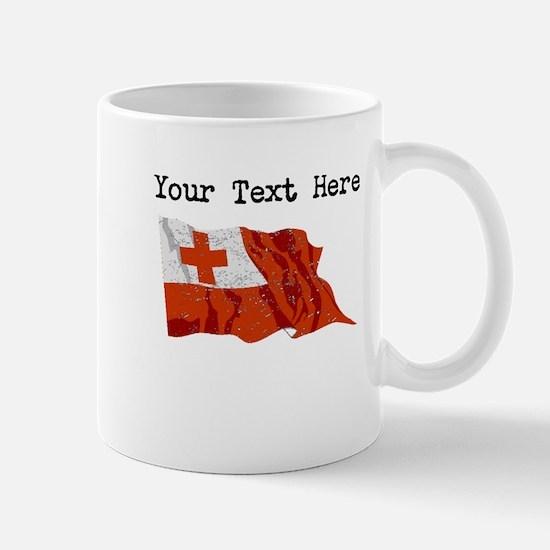 Tonga Flag (Distressed) Mugs