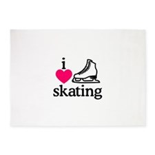 I Love Skating/Skater 5'x7'Area Rug