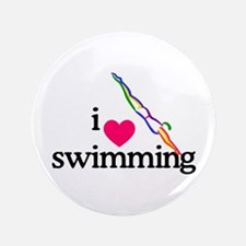 I Love Swimming/Diver Button