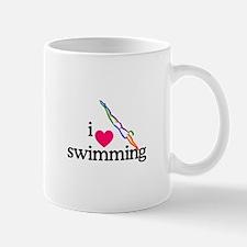 I Love Swimming/Diver Mugs