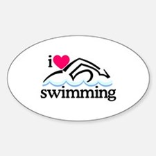 I Love Swimming/Swimmer Decal