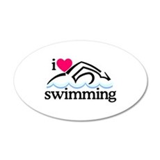 I Love Swimming/Swimmer Wall Decal