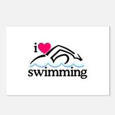 I Love Swimming/Swimmer Postcards (Package of 8)