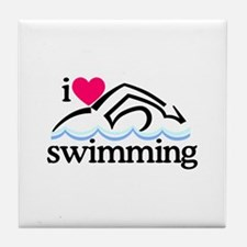 I Love Swimming/Swimmer Tile Coaster