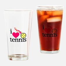 I Love Tennis/Ball Drinking Glass