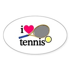 I Love Tennis/Racquet Decal