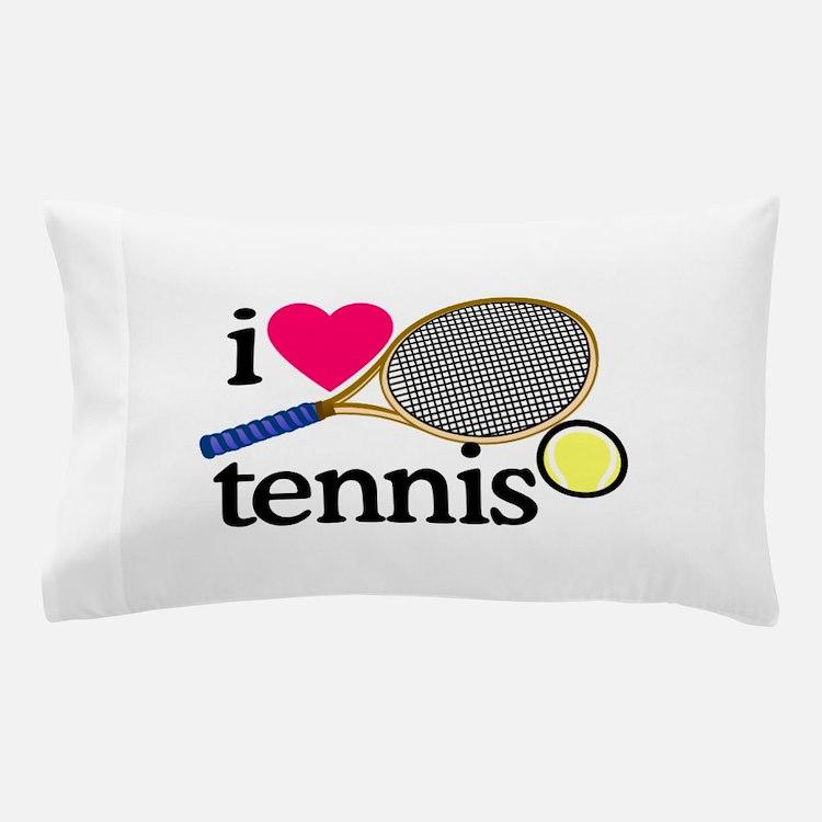 I Love Tennis Racquet Pillow Case. I Love Tennis Bedding   I Love Tennis Duvet Covers  Pillow Cases