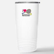 I Love Tennis/Racquet Travel Mug