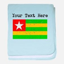 Togo Flag (Distressed) baby blanket