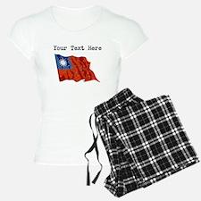 Taiwan Flag (Distressed) Pajamas