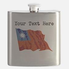 Taiwan Flag (Distressed) Flask