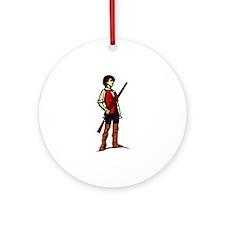 Minutemen with Gun Ornament (Round)