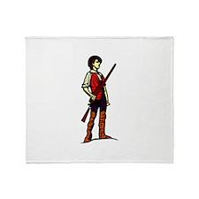 Minutemen with Gun Throw Blanket