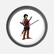 Minutemen with Gun Wall Clock