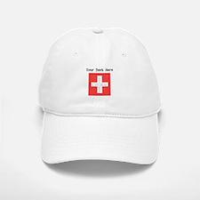 Switzerland Flag (Distressed) Baseball Baseball Baseball Cap