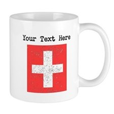 Switzerland Flag (Distressed) Mugs