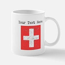 Switzerland Flag (Distressed) Mugs