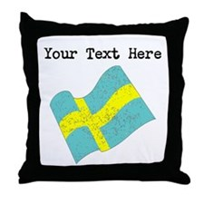 Sweden Flag (Distressed) Throw Pillow