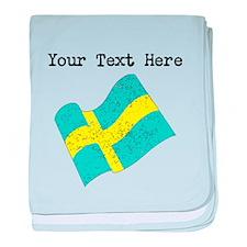 Sweden Flag (Distressed) baby blanket