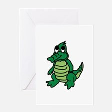 Baby Gator Greeting Cards