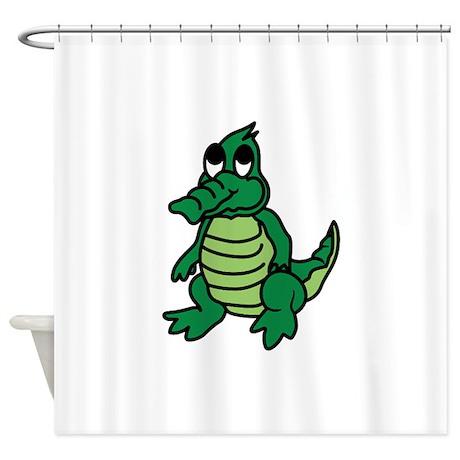 Alligator shower curtain 2