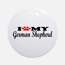 German Shepherd - I Love My Ornament (Round)