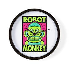Retro Robot Monkey Wall Clock