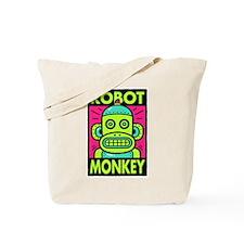 Retro Robot Monkey Tote Bag