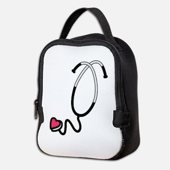 Heart Stethoscope Neoprene Lunch Bag