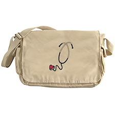 Heart Stethoscope Messenger Bag